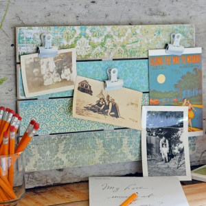 Learn how to make a simple DIY photo display using supplies from the hardware store - and Mod Podge! Very easy to personalize.