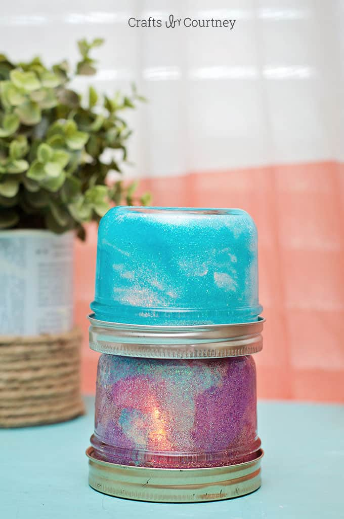 Mason Jar Night Light - Crafts by Courtney for Mod Podge Rocks!