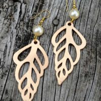 Paper Earrings that Look Like Seashells