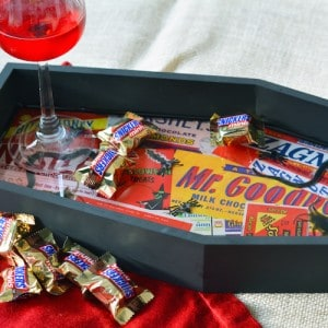 Creepy crawly DIY Halloween tray