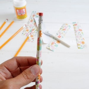 DIY decoupage personalized pencils