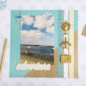 Scrapbook embellishments with Mod Melts