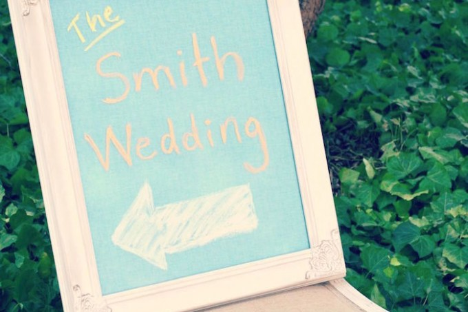 The smith wedding chalkboard