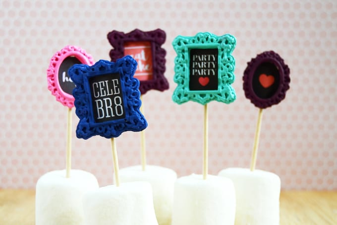 Learn how to turn some fabulous Mod Melt frames into cute food picks or cupcake picks! These are perfect for parties and are reusable.