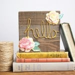 Fall floral sign with Mod Melts