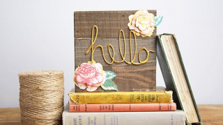 Floral and Wood DIY Welcome Sign