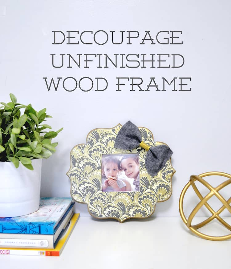 Decoupage Picture Frame with Mod Podge