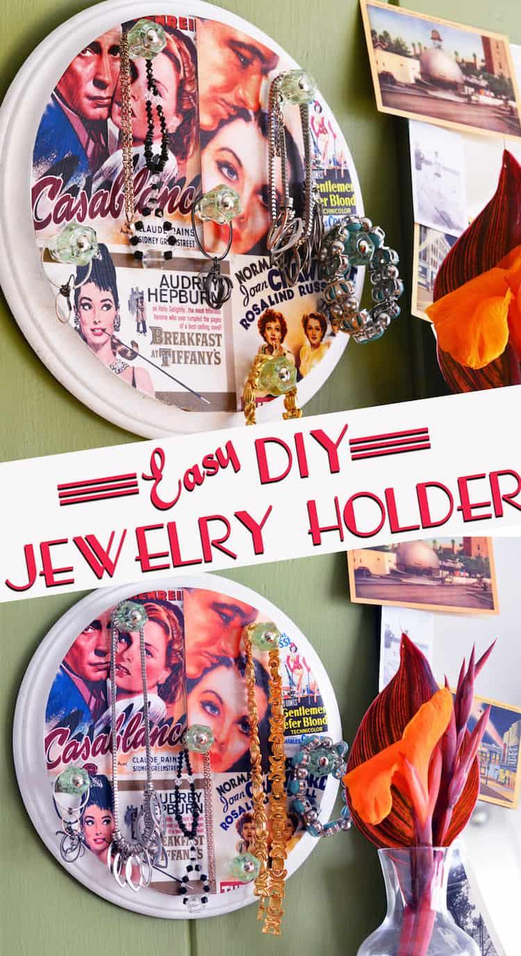 Custom Diy Jewelry Holder From A Wood Plaque Mod Podge Rocks