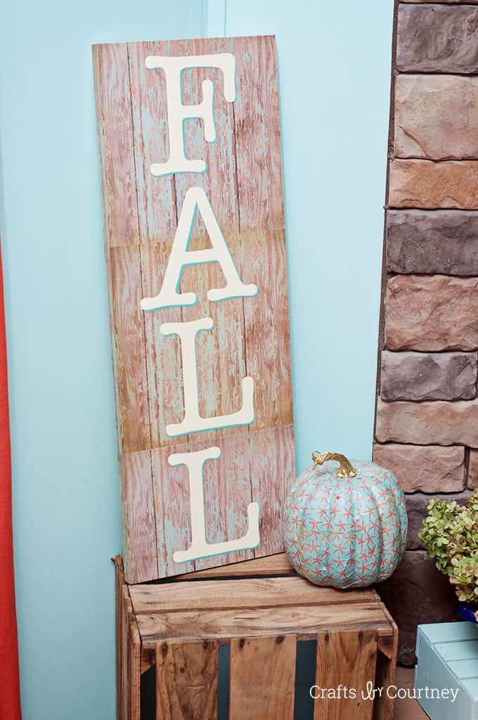 DIY Fall Sign in Three Steps