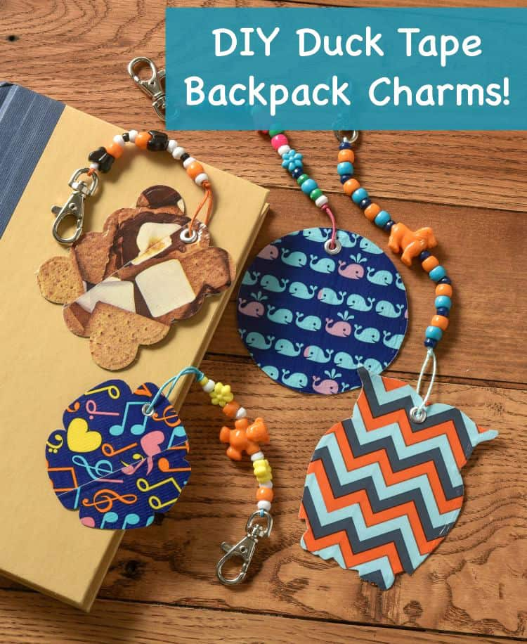 Learn how to make backpack tags with Duck Tape