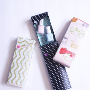 Fabric covered DIY pencil case