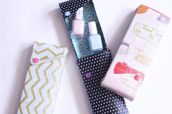 Want to make a DIY pencil case? Grab a dollar store surface and some fabric Mod Podge and get to work - these could be used for so many things!