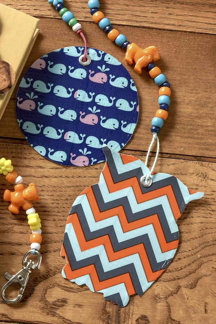 Use your favorite patterns of Duck Tape to make these easy backpack charms. Kids will love assembling several of these in a matter of minutes!