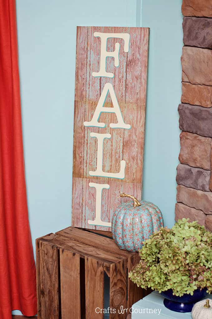 How to make a fall sign in three steps