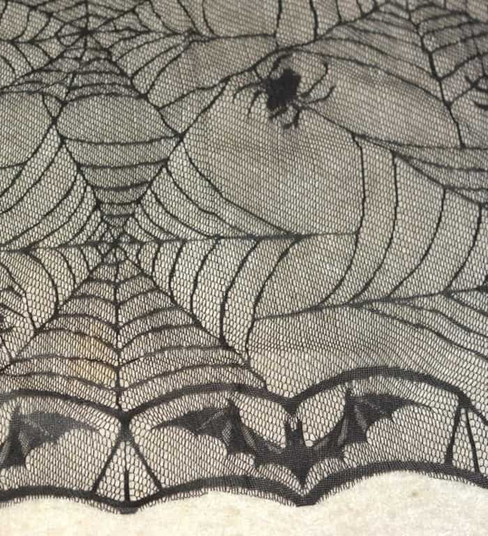 Black lace spider tablecloth