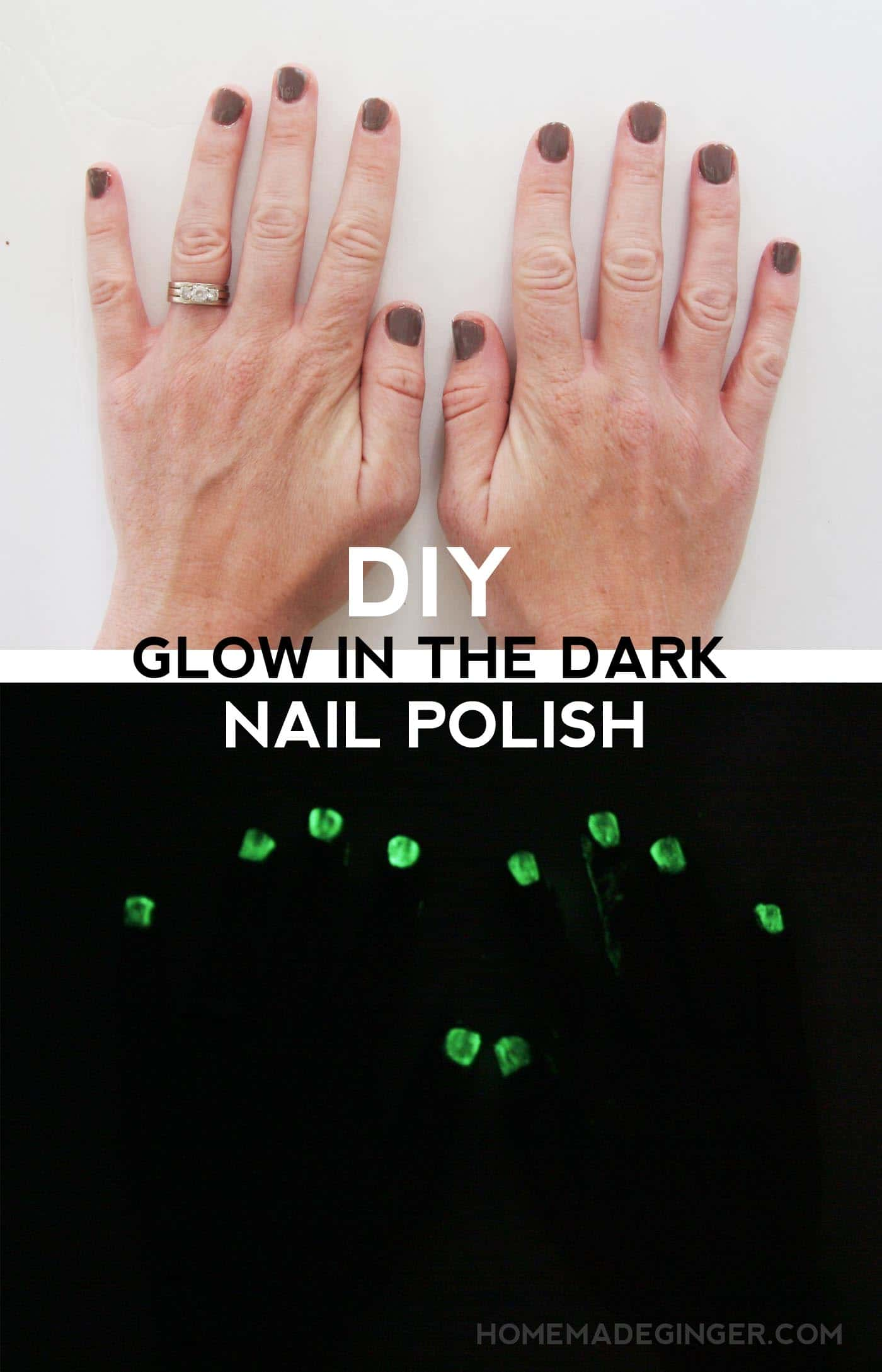 DIY Glow in the Dark Nail Polish
