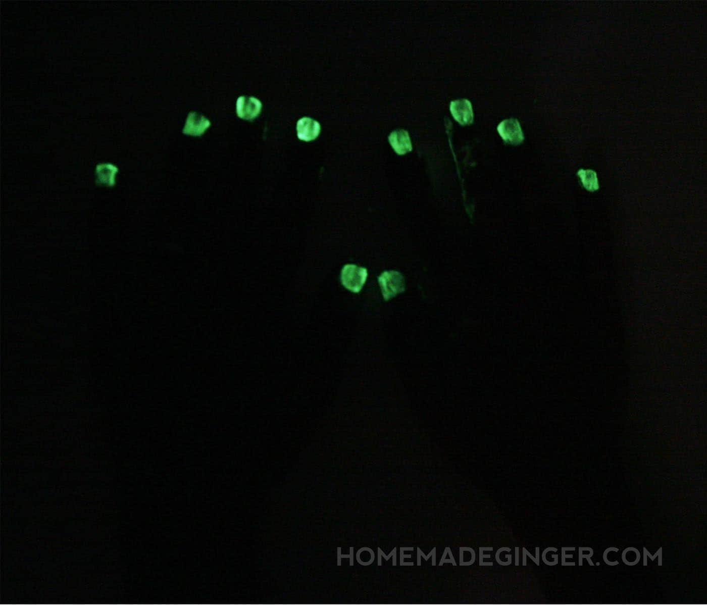 Learn how to make your own DIY glow in the dark nail polish! You can give any color of polish the ability to glow when the lights are low.