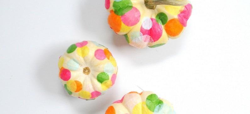 Fall kids craft: no-carve confetti pumpkins