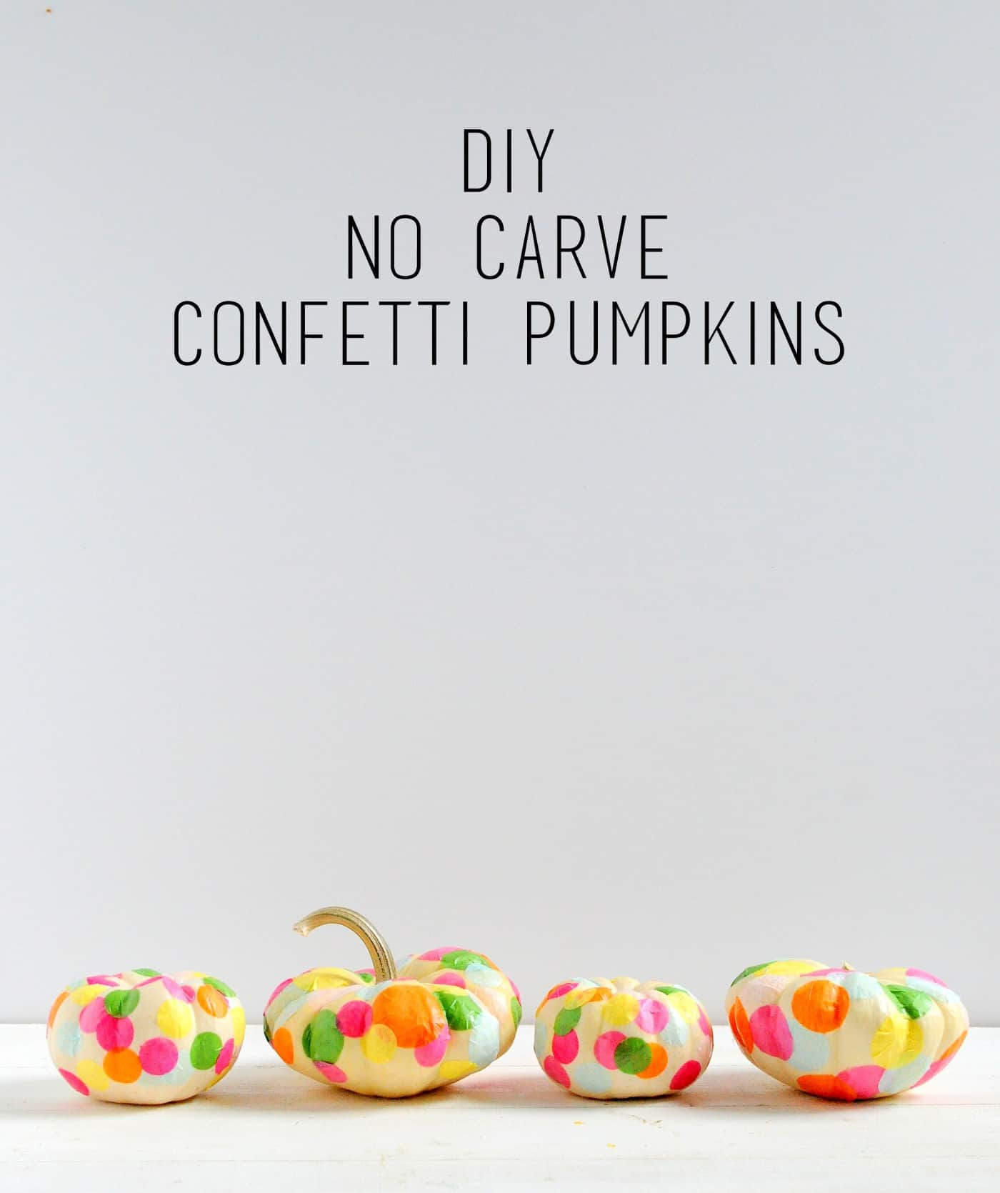 Here's a quick no-carve idea that will turn ordinary pumpkins into party pumpkins . . . and it's so easy, it makes the perfect fall kids craft!