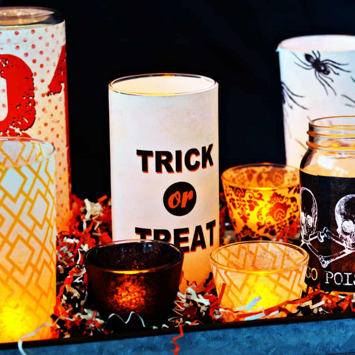 If you need a last minute idea for the holiday, these DIY Halloween candles are perfect! This easy centerpiece is also a dollar store craft project.