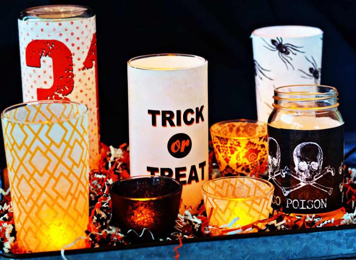 Easy DIY Halloween Candles Tutorial