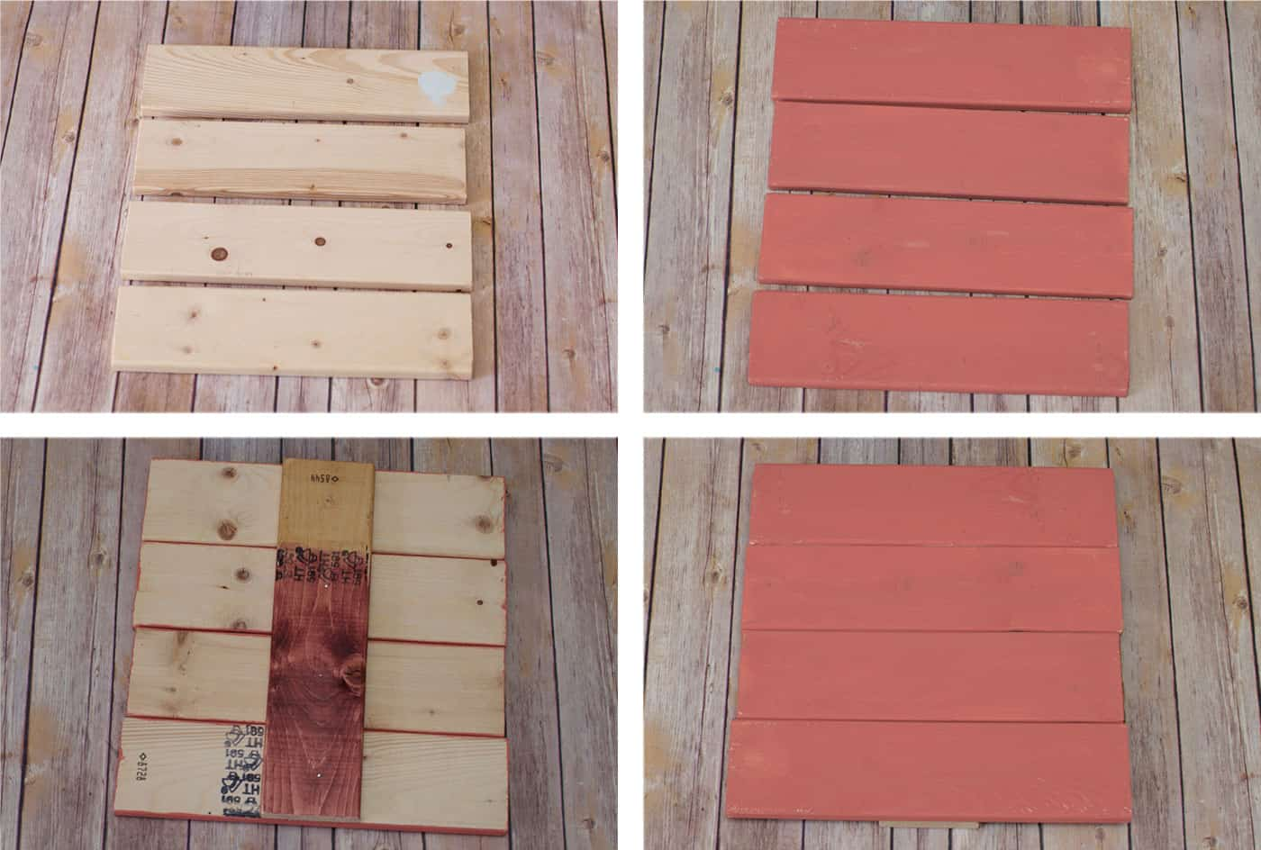 Assemble and paint a mini pallet