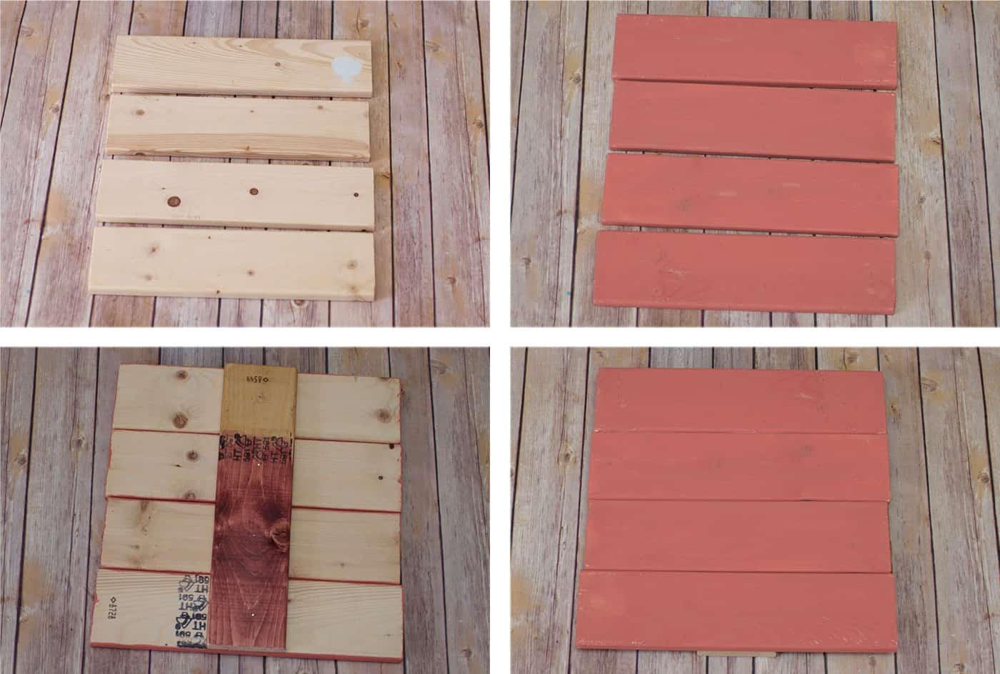 How to put scrapbook paper on wood - Diy Scrapbook Paper Fall Sign