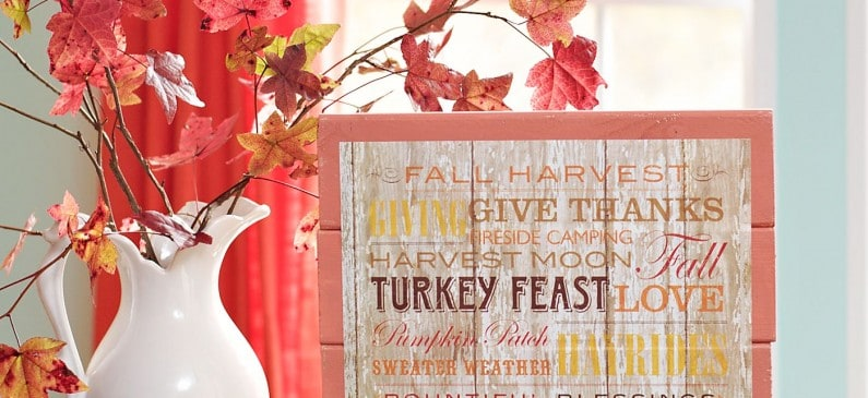 DIY scrapbook paper fall sign