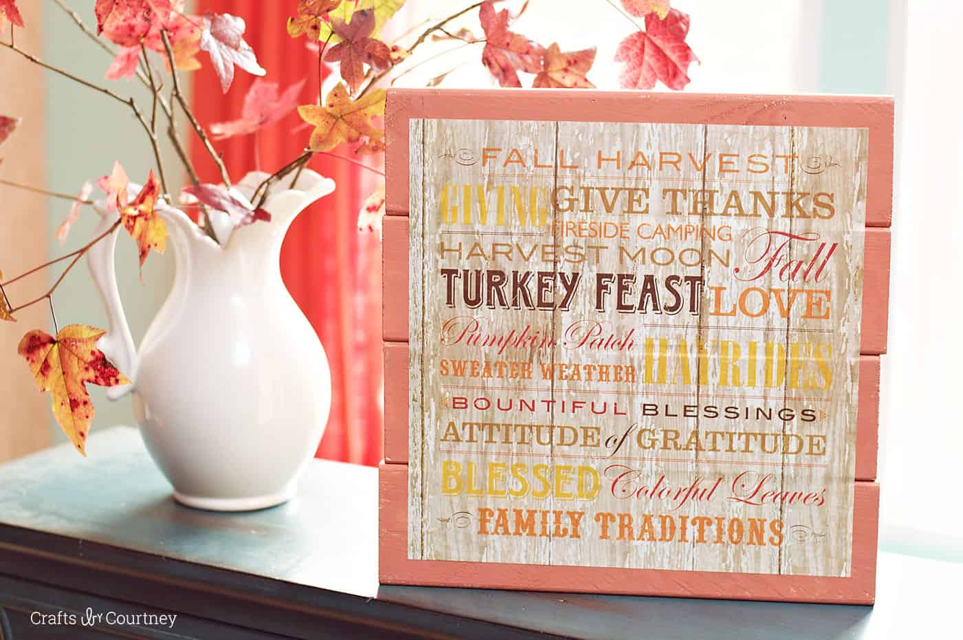 Scrapbook paper diy - This Pretty Fall Sign Was Made With A Piece Of Scrapbook Paper Under 1