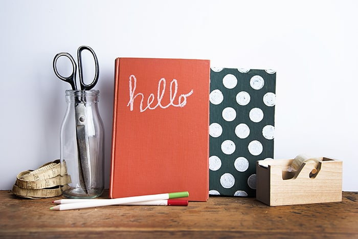 Make Books for Decor with Chalkboard Medium