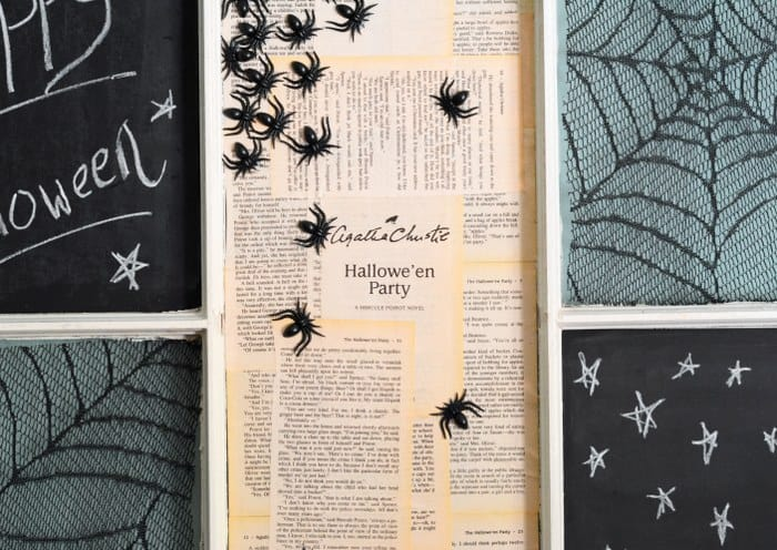 halloween wall art window