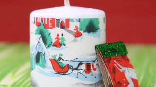 Make Vintage Christmas Candles in Three Easy Steps