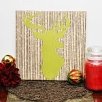 Deer silhouette DIY wall art
