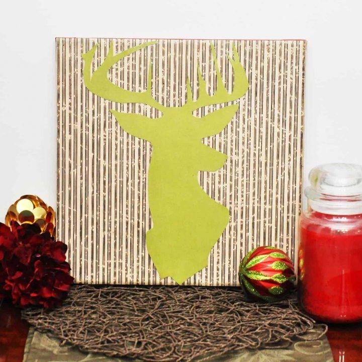deer silhouette wall decor