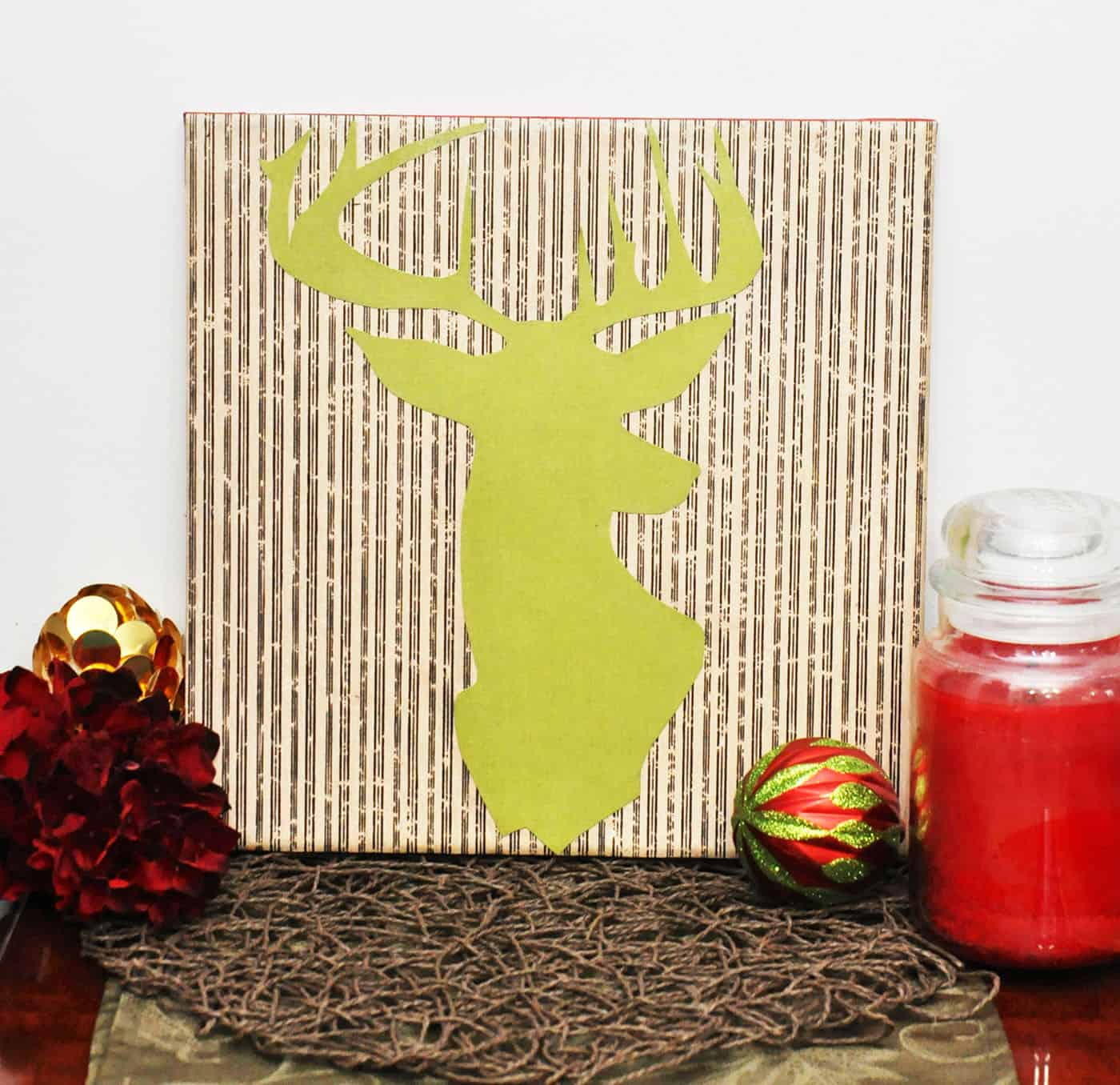 Deer silhouette DIY wall art - Mod Podge Rocks