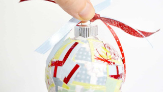 Easy Paper Scrap DIY Christmas Ornaments