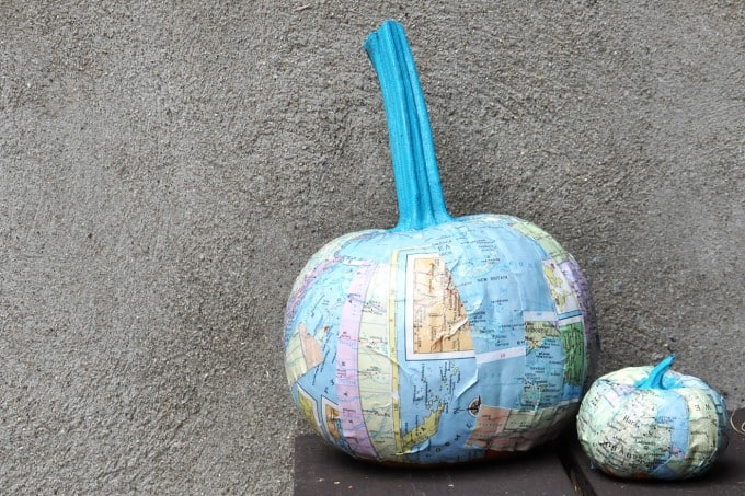 Try a seasonal craft that is a bit different with these unique DIY pumpkins! They are easy to make with maps and Mod Podge.