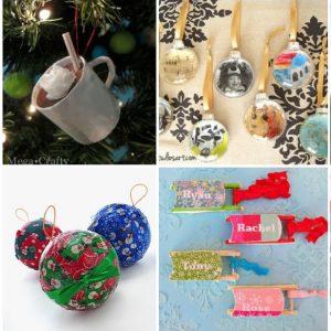 DIY Christmas ornaments made with Mod Po...