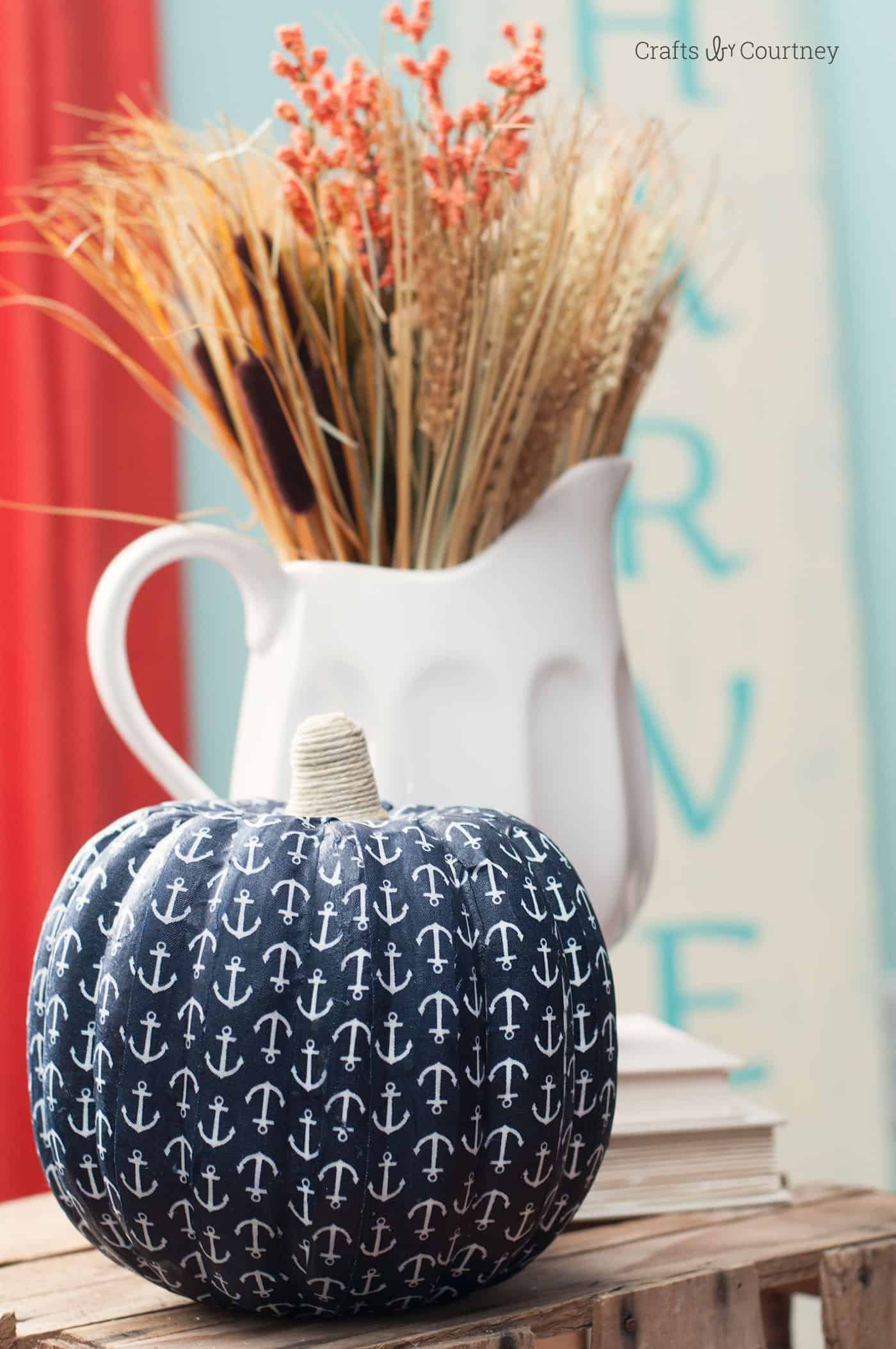 This pumpkin craft uses Mod Podge and fabric to turn a gourd into fantastic fall decor! Learn how easy it is to make with this great tutorial.