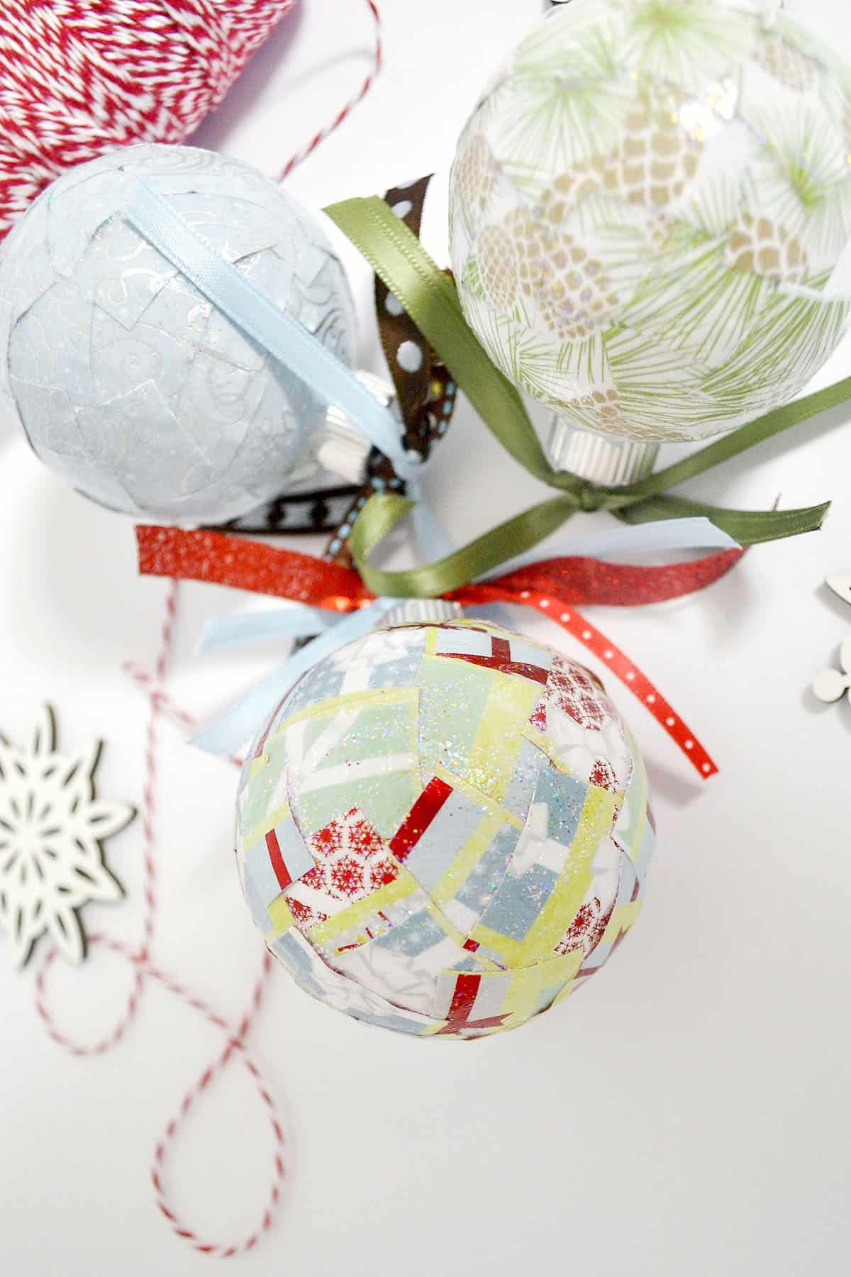 scrapbook paper christmas ornaments