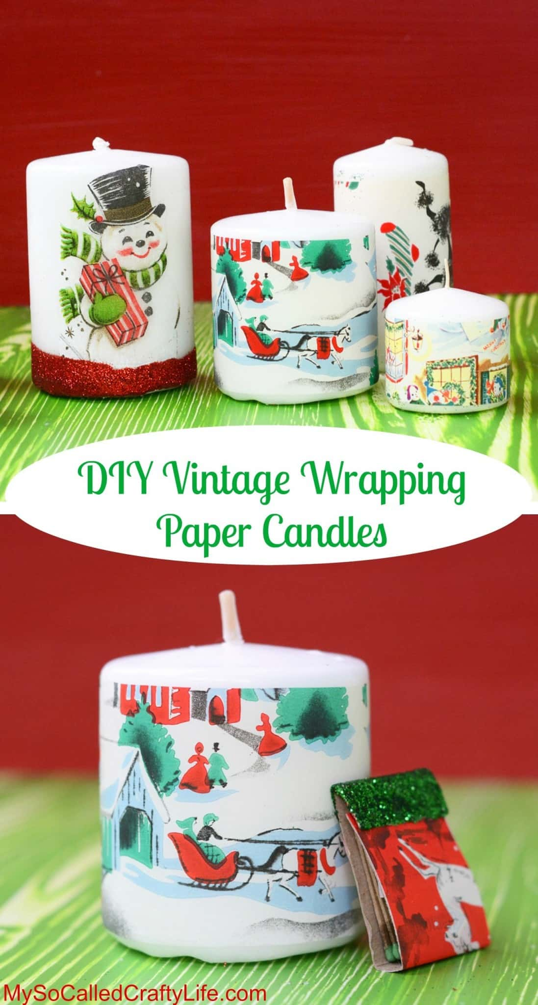 Vintage Christmas Candles.Make Vintage Christmas Candles In Three Easy Steps Mod