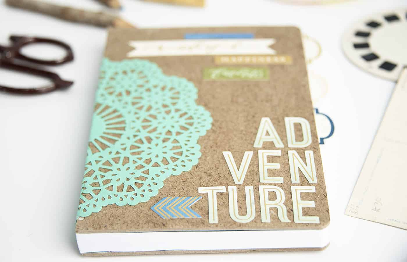 DIY notebook made with Mod Podge