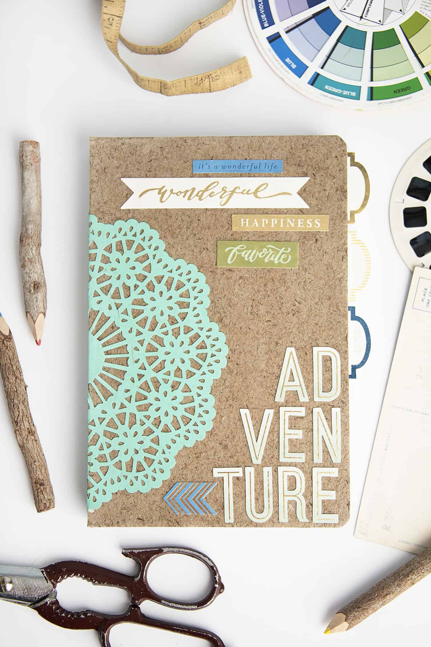diy craft idea adventure themed diy notebook gift mod podge rocks 1864