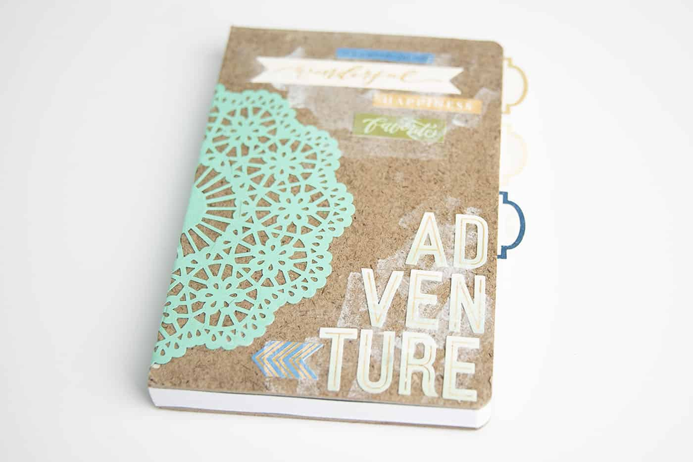 This adventure themed DIY notebook is the perfect gift idea for everyone from hostesses to teachers to kids! So simple to personalize.