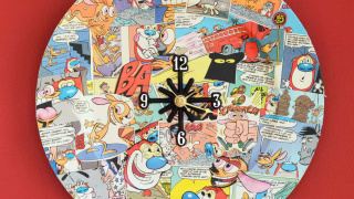 Comic Book Clock From a Charger