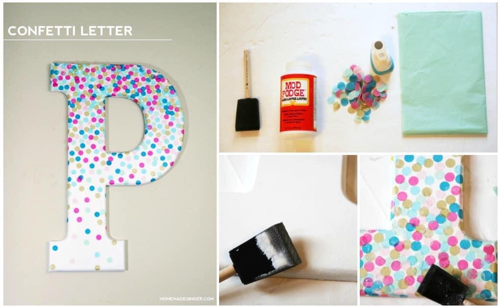 Foam Letters Wall Decor : Confetti decorative letters for wall decor mod podge rocks