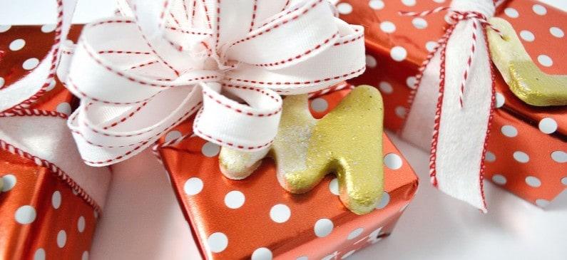 Easy salt dough gift tag