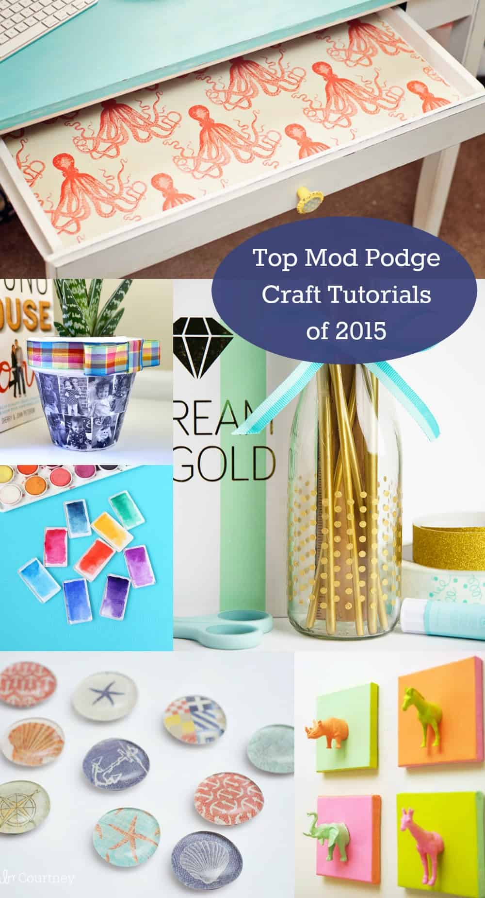 Do you love to Mod Podge? This retro craft is a blast, and it's great for beginners. Here are the top 10 Mod Podge craft tutorials of 2015.