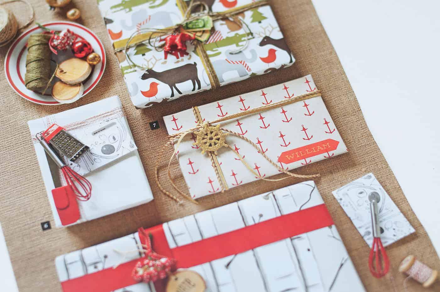 Southern Living Christmas gift wrap