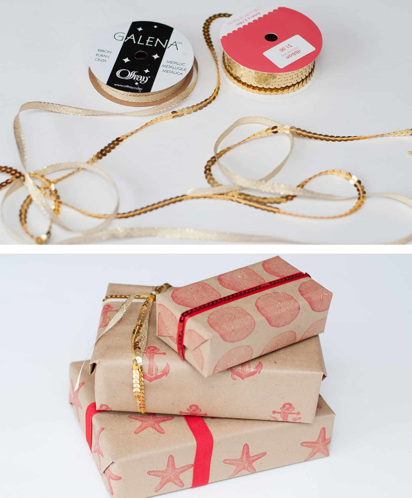 Wrapping packages in ribbon